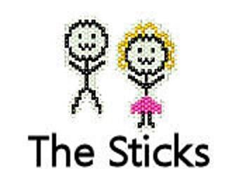 Brick Stitch Earrings Pattern Meet the Sticks Stick People Figure Drawing Delica Seed Bead Jewelry Pattern