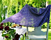 Lace Shawl Knitting Pattern Text Direction Plus Charted Directions Instant PDF Download Easy Quick to Knit Pattern Gift Idea
