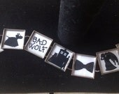 Doctor Who Silhouette Link Charm Bracelet FREE USA SHIPPING