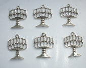 6  Menorah Candle Holders/Gothic Candlesticks 26mms