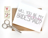 Will You Be My Bridesmaid Card - Bridesmaid Card