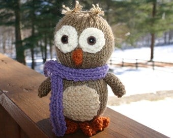 Knitted Owl - Oliver
