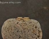 Single Thin 14k Gold Band   Stacking Ring   Mid-Finger Ring   Mid Knuckle Ring