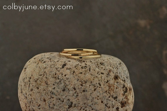 Single Thin 14k Gold Band | Stacking Ring | Mid-Finger Ring | Mid Knuckle Ring