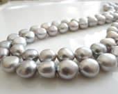 1/2 Strand----Lustrous Silver Freshwater Potato Pearls