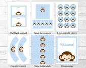 Cute Monkey Baby Shower P...
