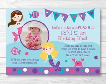 Mermaid Birthday Invitation PRINTABLE