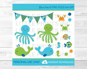 Under the Sea Clipart Nautical Clip Art PERSONAL USE Instant Download