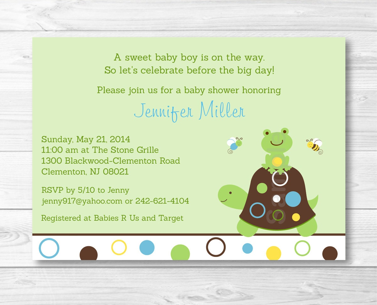 cute turtle baby shower invitation turtle baby shower invite