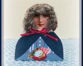 Betty Handmade Mixed Media Victorian Collage Shelf Sitter Art Doll Decoration