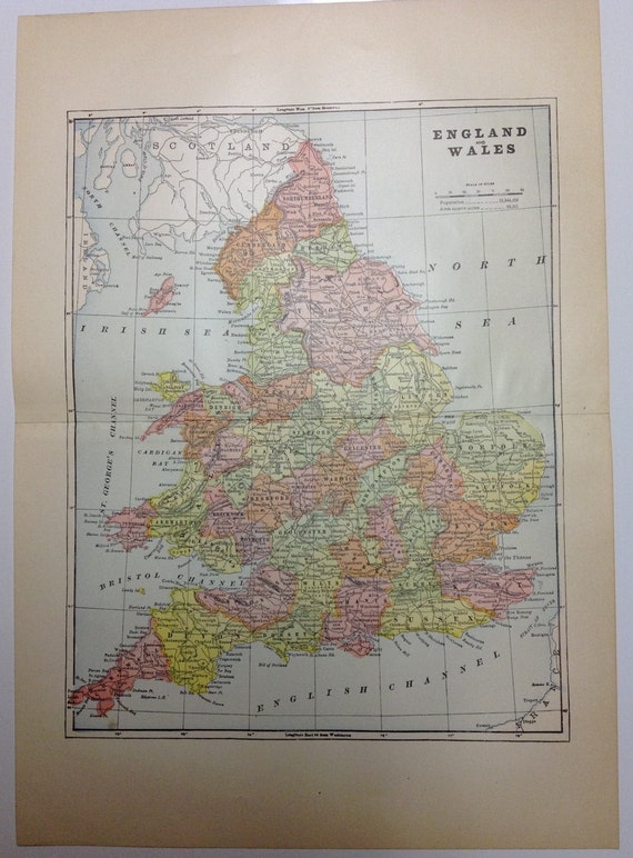 1897 England and Wales Map