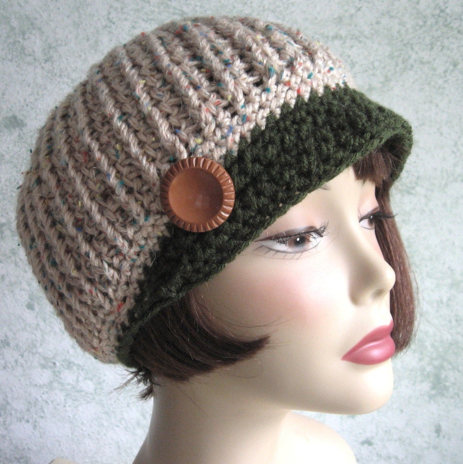 Crochet Ribbed Hat : Crochet Newsboy Hat Pattern Ribbed Stitch With by kalliedesigns