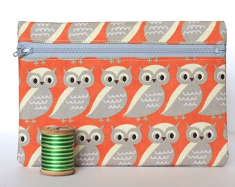 Owl Zipper Pounch Sale Discounted Stocking Stuffer Reusable Gift Wrap