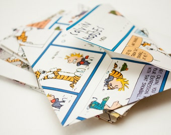 Set of 10 Handmade Calvin and Hobbes Envelopes - Medium - Color and Black and White