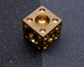 "1.5"" x 1.5"" x 1.5"" 61 Dome Brass Dapping Block"