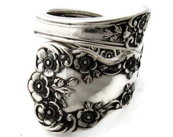 Sterling Silver Spoon Ring Size 6 to 12 Buttercup