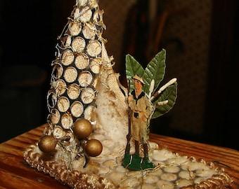 African Safari Camp German Sebnitz Christmas Ornament