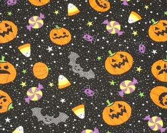 Bats and Spiders Glittery    Halloween   Pillowcase