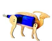 Wine-O-Saur Wooden Dinosaur Wine Rack Parasaur