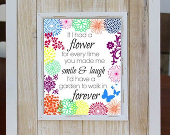 FRIENDSHIP Digital Download Art Print, Love Quote, Instant Download, Home Decor,Best Friends, Christmas Gift, Friendship Poem, Flower Poem
