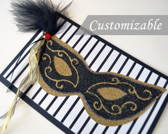 Masquerade Invitation, Mardi Gras Party, Party Invitations, Masquerade Party, Customizable