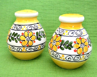 Bright Yellow Salt & Pepper Shakers