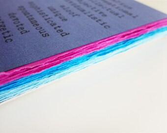 AQUARIUS zodiac traits - comb-bound notebook
