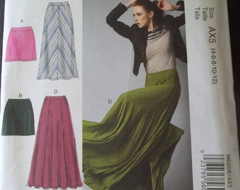McCalls 6608 Skirt Pattern