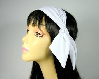 Lycra Bandanna Spandex Bandanna Tennis Head Scarves Lycra Head Scarves Lycra Headscarf 50's Neck Scarves Head Scarves Retro  Neck Scarves