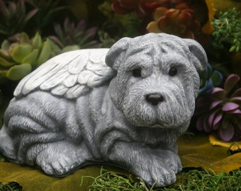 Shar Pei Dog Angel Statue - Pet Memorial - Chinese Shar-Pei, Sharpei