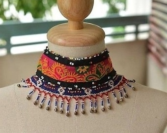 Amazing Beadwork and Textile Fragment Choker