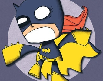 Batgirl Art Print Superhero Illustration