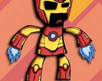 Iron Man Art Print Avengers Illustration Superhero