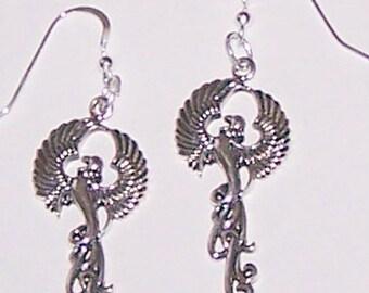 Sterling Silver PHOENIX RISING Earrings -