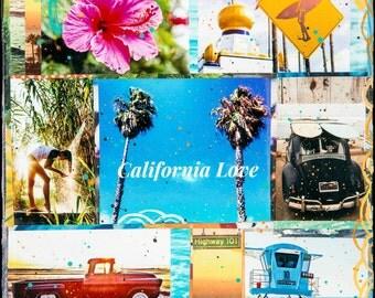 CALIFORNIA LOVE, Best Seller, Matted Print, 8x10, 11x14, 16x20, Print, Encinitas, California, Surfing, Swamis, Seaside, Ocean Art, Wall Art
