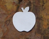 """20 Deburred 1 1/4"""" inch X 1 1/16"""" APPLE *Choose Your Metal* Aluminum Brass Bronze Copper Nickel Silver Stamping Blanks"""