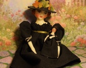 "Un Antiqued 6"" Witch Doll with Tiny Doll"