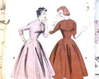 Vintage 1950s Womens Empire Dress Pattern Butterick 7126