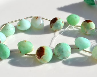 Natural Chrysoprase Hershey Kiss Bead  ONE