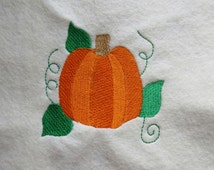 Pumpkin Leaves Vines Embroidery Design - 2 Sizes