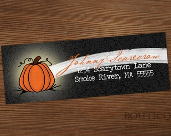 Return Address Labels - Halloween Pumpkin