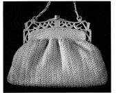 "Vintage Crochet Pattern 1930's Gimp Purse Pattern ""The Empire"" -INSTANT DOWNLOAD-"