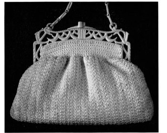 "Vintage Crochet Pattern 1930's Gimp Purse Pattern ""The Empire"" -INSTANT DOWNLOAD-"