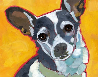 Rat Terrier No. 1 - magnets, cards and art prints