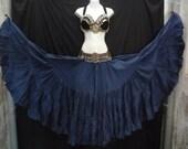 Cobalt Blue Cotton 25yd Skirt ATS SCA BellyDance Best Quality