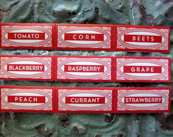 Gorgeous Vintage Canning Labels, Red and White, Eureka, 1940s (9)