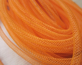 3 metres Bright Orange Tubular Ribbon