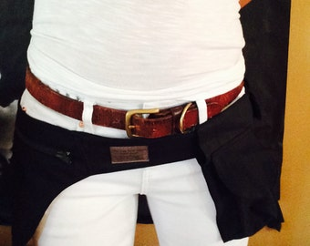Black Canvas Hip Bag