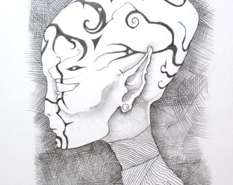 Alien Original Pencil Drawing