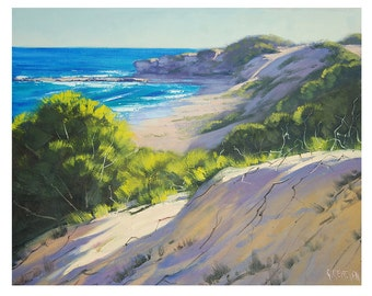 BEACH DUNES PAINTING  Impressionist Seascape by Graham Gercken